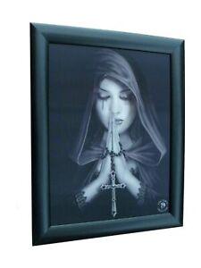 3D LENTICULAR FRAMED PICTURE GOTHIC PRAYER 46x37cm 460x370mm Anne Stokes