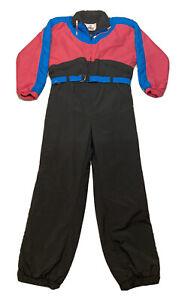 Vtg 80s Alpine Designs Womens Sz Large Insulated Retro 1 Piece Ski Suit Snowsuit