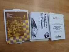 Konvolut ((335 Gramm) Schachturnier-Programme aus Niederlande/Belgien 1989-1995