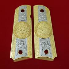 Custom Colt Kimber Grips 1911 Full size Government MEDUSA Grips Gold Plated