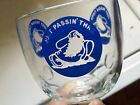 """"""" Just Passing Thru"""" Beer Goblet With Famous Bearded Guy Striding """"Thru"""" Look"""