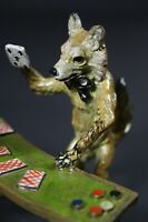 Vienna Bronze Statue, Fox Playing Cards - Polychrome, Cold Painted