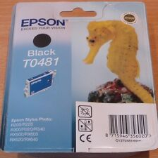 GENUINE EPSON T0481 TO481 Black cartridge vacuum sealed ORIGINAL SEAHORSE ink