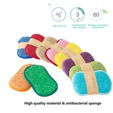 5pcs Anti-microbial cleaning sponge kitchen sponge washing dishes pan brush`BE