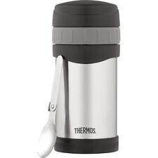 16 унций (примерно 453.58 г.) - Thermos вакуумной изоляцией из нержавеющей стали еды банка с ложка-прохладный серый