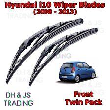 "(08-13) Hyundai i10 MK1 Front Wiper Blades Windscreen 22"" 16"" Hook Type Wipers"
