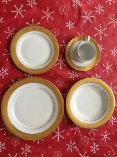 Service 12 Magnificence by Muirfield Fine China 24kt Gold Encrusted Dinner Set