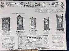 Regina Music Box Advertising Poster Reprint * Musical Automatons * Changer 22x17