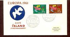 Island 1961 FDC Europa / CEPT