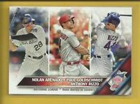 Arenado Goldschmidt Rizzo 2016 Topps Series 1 RBI League Leaders Card # 166 MLB