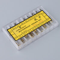 140Pcs Watch Crowns Waterproof Replacement Various Sizes Watchmakers Tools