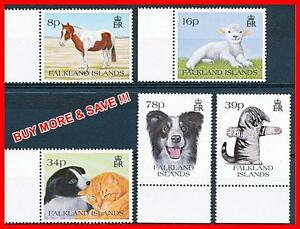 FALKLAND IS. 1993 DOMESTIC ANIMALS SC#501-04 MNH CV$12.00 CATS, DOGS HORSES (D1)
