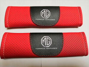 2Pcs Red Color Car Seat Belt Shoulder Cushion Cover Pad Fit For MG Auto