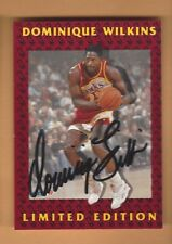 DOMINIQUE WILKINS 1992 FLEER  LIMITED EDITION AUTOGRAPH CARD #10 OF 12