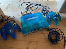 Nintendo N64 Clear Blue  und 2 Kontroller