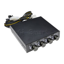Hot 3.5inch PC HDD CPU 4 Channel Fan Speed Controller Led Cooling Front Panel