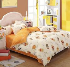 New French fries burger 4pcs bedding set Duvet/quilt pillowcase cover QUEEN KING
