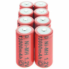 8 D size BATTERIES 1.2V 11000mAh Ni-MH Red Rechargeable Battery US Fast Shipping