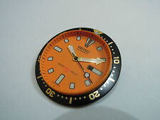 SEIKO REPLACEMENT ORANGE DIAL /HANDS/ INSERT FOR SEIKO 4205 MEDIUM DIVER'S WATCH