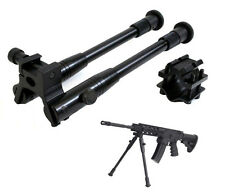 "Tactical Rifle Kit Set 14.5"" Metal Adjustable Spring Return Bipod Barrel Mount"