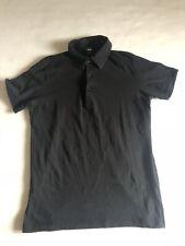 H&M Herren Polo Shirt Schwarz Black 100% Cotton S Small