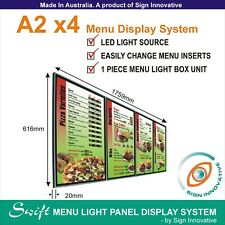 A2 x4 Swift LED MENU BOARD DISPLAY SYSTEM -ILLUMINATED MENU SIGN LIGHT BOX