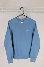 Vintage Nike Gray Tag Crewneck Sweater Blue Size Large 80s 90s Made in USA