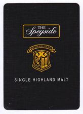 Speyside Single Highland Malt Whisky Single Playing Card