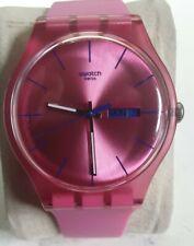 Swatch Pink Rebel Quartz Watch w Day & Date Swiss Made New Battery