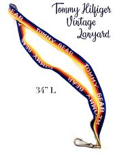 Vtg Authentic Original Big Tommy Hilfiger Lanyard Blue & Red Tommy Gear RARE