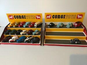 2 x Corgi Red/Yellow Toys 3 Step Display Unit