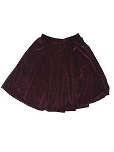 LuLaRoe women's purple stretch waist flare skirt size medium