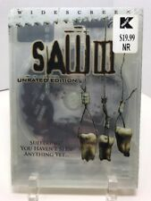 New Sealed Saw III (DVD, 2007, Unrated Widescreen) Horror Unrated Edition