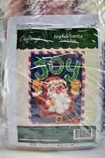 "New listing Craftways Joyful Santa Christmas Holiday Latch Hook Kit 27"" x 20"" New"