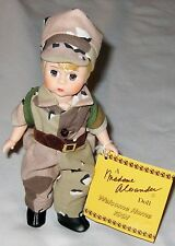 "Madame Alexander Blond 8"" Desert Storm 1991 Gi w Usa Flag & Box"