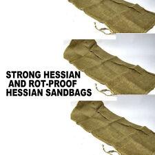 STRONG HESSIAN AND ROT-PROOF HESSIAN SANDBAGS FLOOD DEFENCE BARRIER SACKS