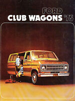 1975 Ford Club Wagon Van Original Sales Brochure