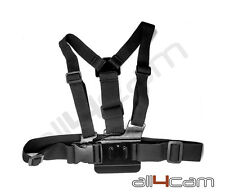 Chest Strap Mount Harness for GoPro HD Hero 3 3+ 4 5 6 Elastic Adjustable