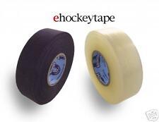 Bulk Hockey Tape - 24 Rolls of Howies Black Cloth and Clear Sock Hockey Tape