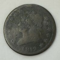 1812 Large Date Classic Head 1c Large Cent U.S. Early Coin 17717