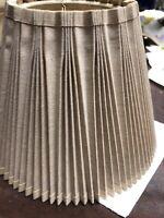 "BEIGE Pleated Lamp Shade 5"" X 6 1/2"" X 8 3/4"""