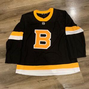 Boston Bruins Adidas Authentic Alternate NHL Hockey Jersey Size 60 ED7642 RARE