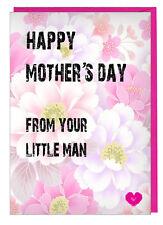 Día de la Madre Tarjeta Su Hombrecito - para Mamá Nan Momia Nanny Abuela