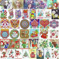Christmas 5D DIY Special Shaped Diamond Painting Cross Stitch Kits Decor Xmas AU