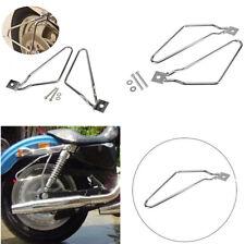 Universal Motorbike Saddle Bag Support Bars Mount Bracket For Harley Sportster