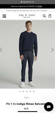 NWT rag & bone Size 33 Fit 1 Extra Slim in Indigo Rinse Selvedge Jeans  $225