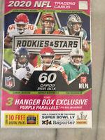 2020 Panini NFL Rookie Stars Football Hanger Burrow Herbert Tua RC Mahomes Brady