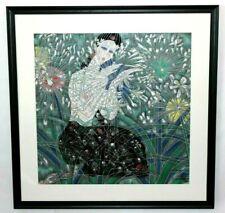 Asian Artwork Tie Feng Jiang Lim. Ed. Serigraph Print Listed Artist 1990 Framed