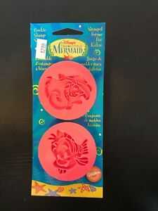1997 Wilton The Little Mermaid Cookie Stamp Set of 2 New in Package NOS