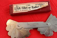 VINTAGE STARRETT NO. 178A FILLET or RADIUS GAGE GAUGE IN ORIGINAL BOX EUC